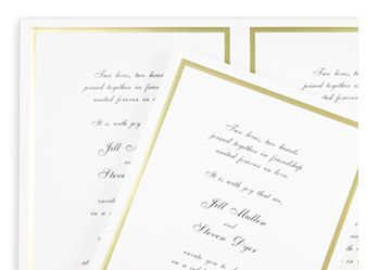 easy, computer printable foil frame invitations