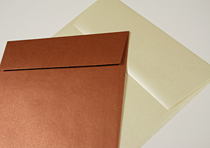 Aspire Petallics Envelopes-Copper Ore & Autumn Hay Metallic Finish Envelopes
