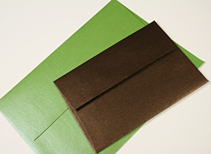 Stardream Envelopes Fairway & Bronze Metallic Envelopes