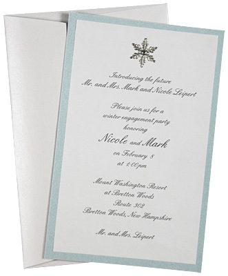 Winter Wedding Invitation Idea Stardream Crystal Subtil Cold Paper