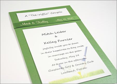 golf wedding invitations