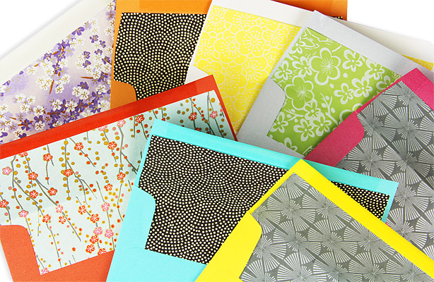 Private: Colorful DIY Lined Envelopes