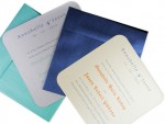 Simple, Stylish & Shimmering - Metallic Round Corner Invitation Cards