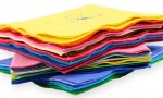 Personalized Napkins in a Rainbow of Colors for Your Wedding