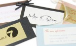 Mini Layered Cards for Wedding Favors, Place Cards & Invites