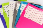 Free Printable Chevron Liners to Match Pop'Set Envelopes
