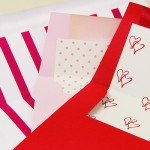 Red & Pink Patterned Liners for Sweet Valentine's Envelopes