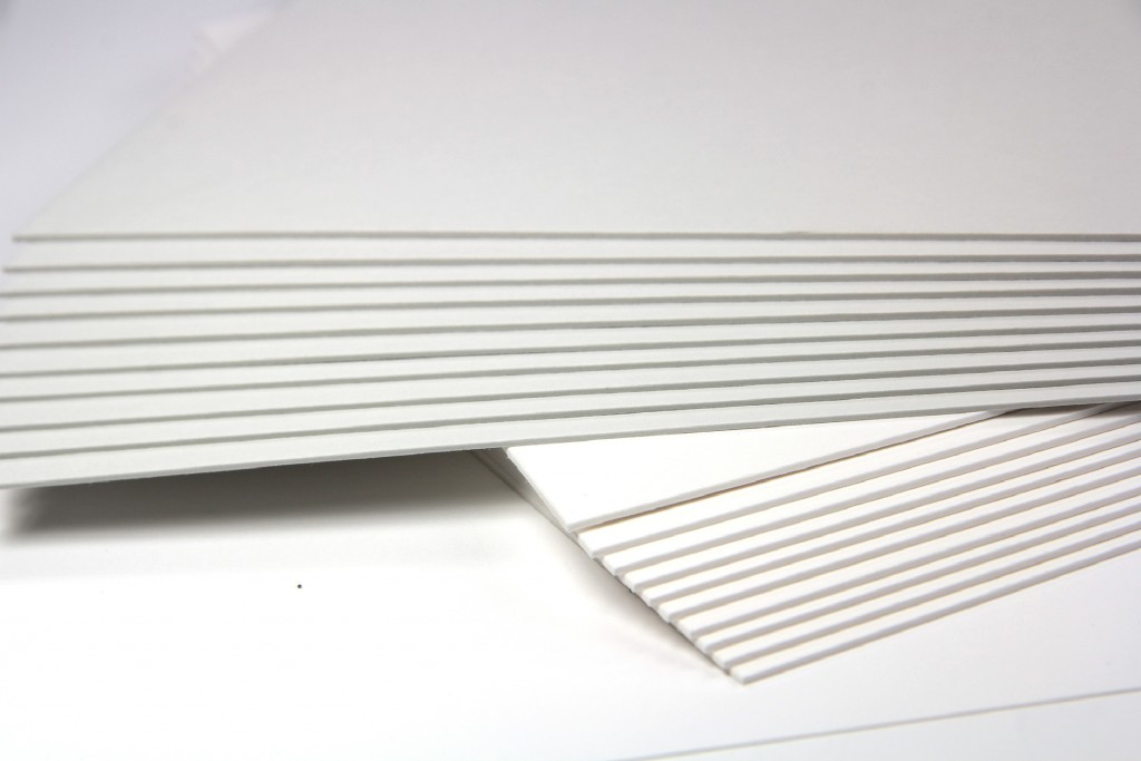 222lb double thick cotton card stock in white and gray