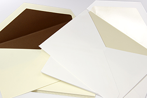 Chocolate & Pearl Inner Lined Wedding Envelopes