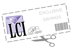 LCI Paper exclusive coupon graphic