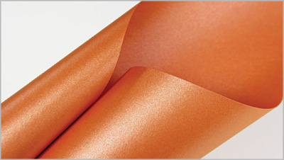 Stardream Flame metallic orange paper