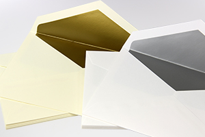 Silver & Gold Inner Lined Wedding Envelopes