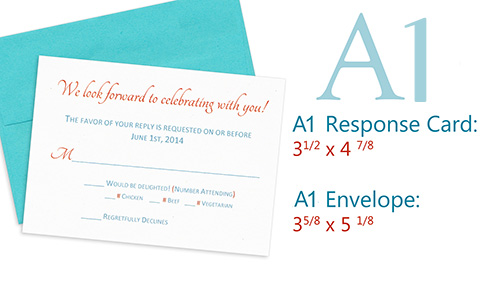 A1 response card and envelope
