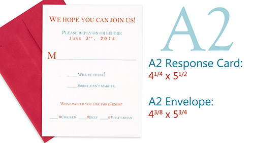 A2 response card and envelope