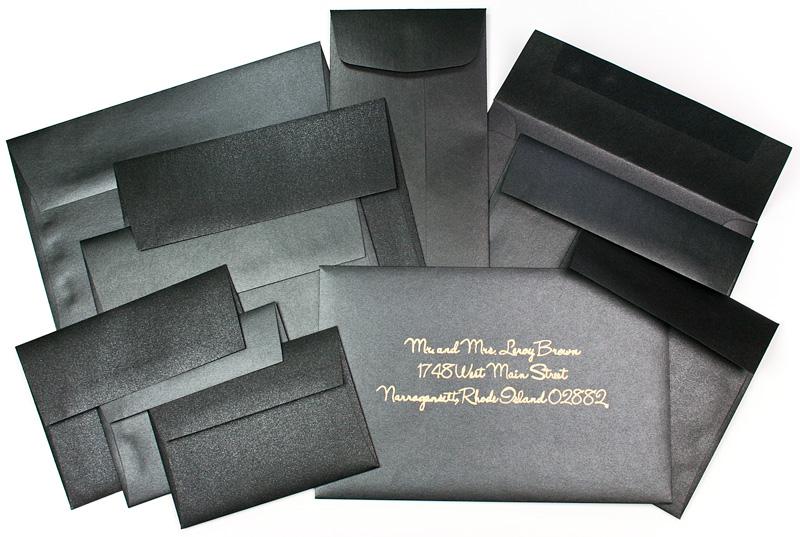 Black Metallic Envelopes