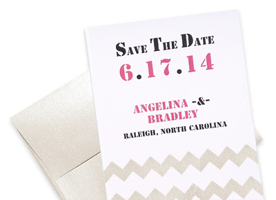 DIY Chevron Save the Date