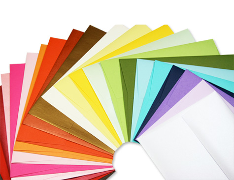 colorful variety of invitation envelopes