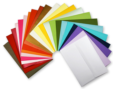 colorful array of envelopes