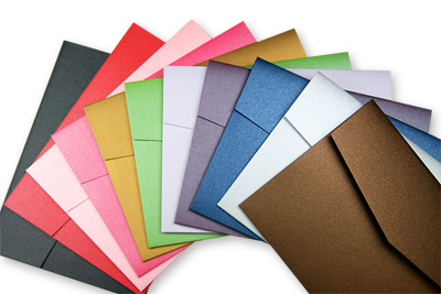 Array of colorful metallic Stardream folders with pockets