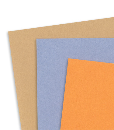 Card stock with a vellum finish by Pop-Tone and Gmund Colors