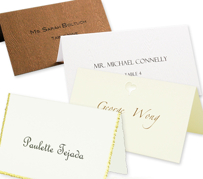 Array of printable blank place cards.