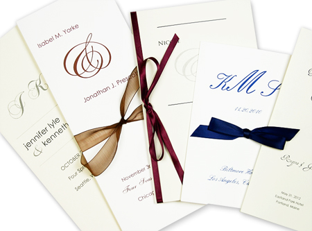 Array of DIY wedding program designs
