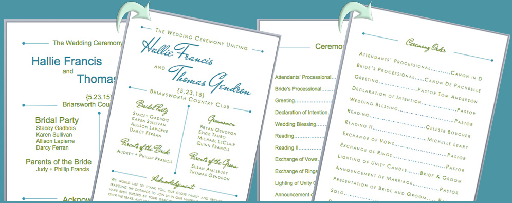 free wedding program fan templates