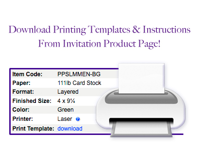 download invitation print template and instructions from product page