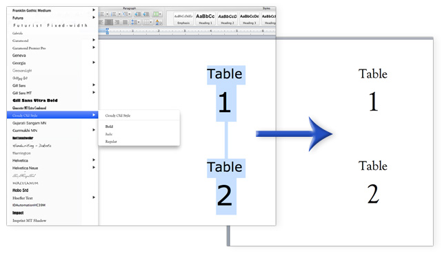 how to change label font size in word 2007