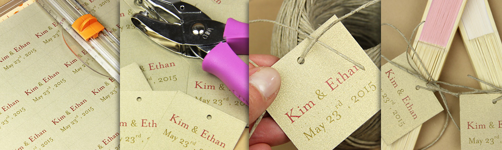 how to make a wedding fan decorated with a tag