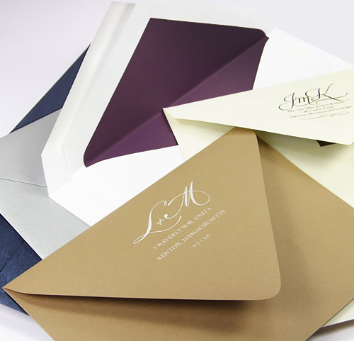 Shop 100s of wedding envelopes, blank or printed, from LCI Paper