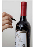 Guest signed wine bottle
