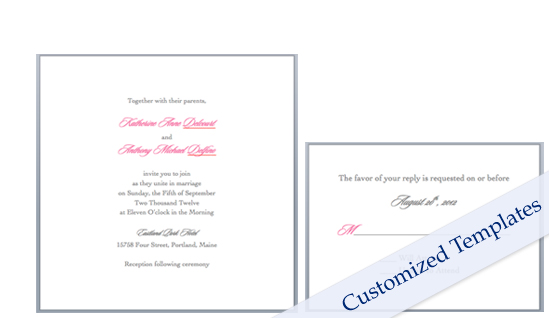 Word templates for panel invitation card and response card after ...