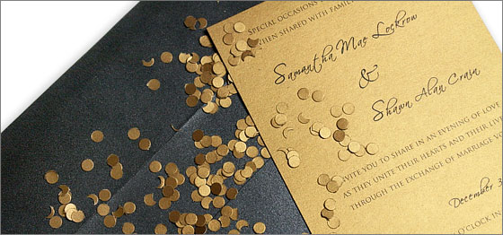 make DIY confetti with a hole punch to dress up invitations