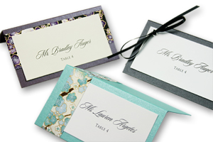 layered place cards diy designer place cards ForMake Your Own Wedding Place Cards