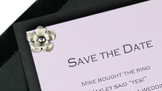 simple layered save the date