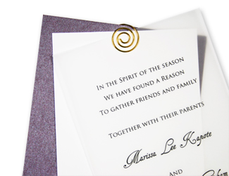 slim layered vellum invitation
