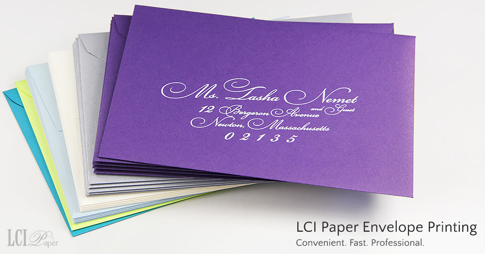 LCI Paper envelope printing and addressing services are fast, convenient, professional