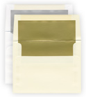 lined envelopes silver gold