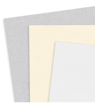 Traditional linen finish card stock and Aspire Petallics metallic linen cardstock