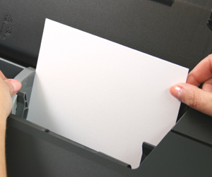 loading card into printer paper tray