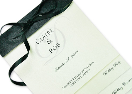 Layered wedding programs are increasingly popular due to their contemporary