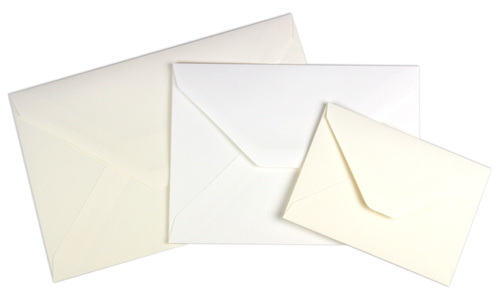 array of sizes and colors old world envelopes