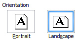 PC Word landscape mode