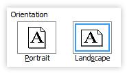 PC Word landscape orientation