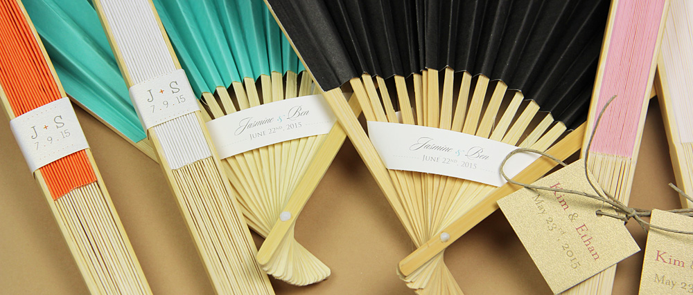 ideas for personalizing hand fans for weddings