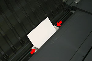 Adjust Printer's Guide Flush Against Paper