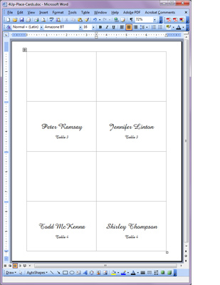 free template for place cards 6 per sheet - template for place cards 4 per sheet 28 images free