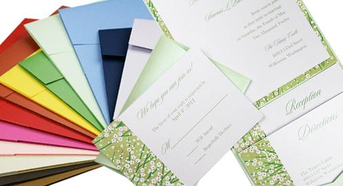 pocket invitation design ideas