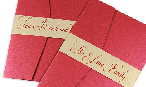 How To Stuff Wedding Invitations Without Inner Envelope: Properly Address Pocket Invitations Without Inner Envelopes